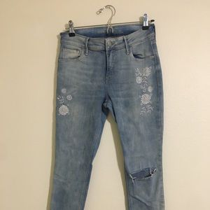 old navy detailed blue jeans